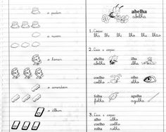 Atividades com as sílabas LHA LHE LHI LHO LHU LHÃO - Livro Caderno do Futuro 1ª Série. - Aprender e Brincar