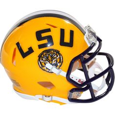 Riddell LSU Speed Replica Mini Helmet [3002067] - This is an riddell LSU speed replica mini helmet. It would make a great addition to any fans collection and it is perfect for autographs. Gifts > Licensed Gifts > Ncaa > All Colleges > Louisiana State University. Weight: 1.00