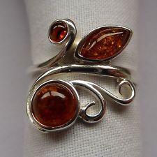 Silber-Ring 925er mit wunderschönem Orig. Danziger Bernstein Honig Gr. 59 Heart Ring, Amber, Gems, Women's Fashion, Jewellery, Rings, Silver, Jewelry, Jewels
