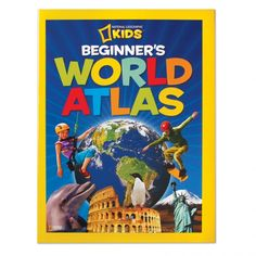 "Beginner's World Atlas:Large, easy-to-read maps introduce youngsters to the world and each of its seven continents. Stunning photographs, carefully selected for their appeal, supplement the maps.   Children will learn about the physical world (land regions, water, climate, plants, and animals) and the political world (countries, cities, people, languages, and products). The large format (10½"" x 14"") makes the photos and artwork come to life.   Features illustrated physical maps for each…"