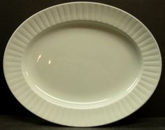 """Alfred Meakin Staffordshire Traditional Ironstone Leeds White Oval Platter 12""""   eBay $25"""