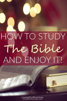 If you find studying the Bible and enjoying it a challenge, you're not alone. And in this post we give you suggestions to help make your reading time more purposeful, obtainable and most importantly fruitful.