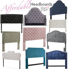 Queen Headboard, Panel Headboard, Velvet Bed, Tufted Bed, Stylish Beds, Glam Room, Bedroom Inspo, Valance Curtains, Table