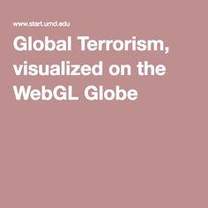 Global Terrorism, visualized on the WebGL Globe
