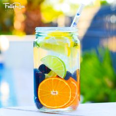 FullyRaw Fruit-Infused Water! YUM! www.fullyraw.com