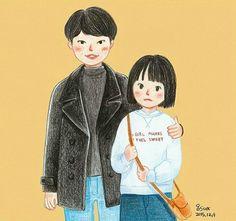 Reply1988 Deok Sun - Jung Hwan cartoon