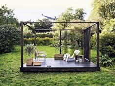 Contemporary Pergola Architecture - Farmhouse Pergola Patio - Pergola Attached To House Steel - Pergola Tuin Klimop