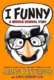 I Funny: A Middle School Story   Jamie Grimm is a middle schooler on a mission: he wants to become the world's greatest standup comedian--even if he doesn't have a lot to laugh about these days. He's new in town and stuck living with his aunt, uncle, and their evil son Stevie, a bully who doesn't let Jamie's wheelchair stop him from messing with Jamie as much as possible. But Jamie doesn't let his situation get him down.