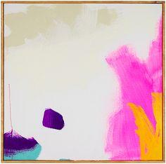 "Jenny Prinn Fishbowl 4 Acrylic and Mixed Media on canvas. Handmade frame by the artist. 20"" x 20"""
