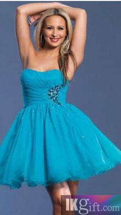 5912ef1a9b Short Mini Organza A-line Strapless Sleeveless Princess Homecoming Dress - HomeComing  Dresses - Special Occasion Dresses - Wedding   Events