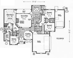 First Floor Plan of Traditional   House Plan 66143