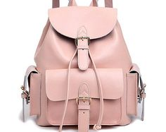 Multi-pocket leather backpack Weekend bag college bag travel backpack handbag travel bag leisure Bag gift girls backpack Shoulders Bag