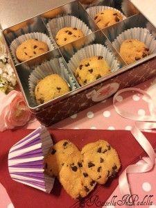 Biscotti senza burro con farina di riso e gocciole di cioccolatoBiscotti senza burro con farina di riso e gocciole di cioccolato