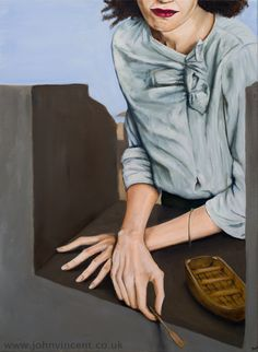 """""""How Did I Get Here (In This Tiny Little Boat)?"""", oil on canvas, 56x76cm, 2013-14"""