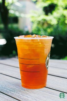 Listen to your taste buds, because there's a different Starbucks Iced Tea for whatever your mood: Sweet Tea, Peach Green Tea Lemonade, Mango Black Tea, Passion Tango Tea.