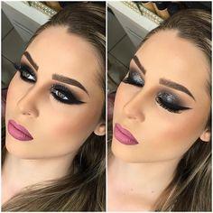 """6,897 curtidas, 40 comentários - Michelly Palma Makeup (@michellypalmamakeup) no Instagram: """"Um pertinho diferente ❤️ @amandaburali no estilo olhão e bocão rsrs difícil não amar  ___ A…"""""""