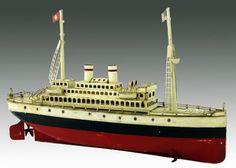 German Clockwork Marklin Oceanliner Tin Boat $ 2.250,00 | Flickr - Photo Sharing!