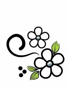 Flower Pattern Drawing, Flower Patterns, Hand Embroidery Flowers, Hand Embroidery Patterns, Star Painting, Fabric Painting, Unique Drawings, Easy Drawings, Stencil Designs