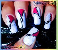 Zipper nail art
