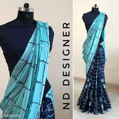 Grey and black rangoli silk chex printed half half saree is part of Saree blouse designs - fabric rangoli silk saree length 5 5 mtrs blouse satin blouse ( 0 80 mtrs )unstitched blouse Half Saree Lehenga, Lace Saree, Organza Saree, Cotton Saree, Handloom Saree, Half Saree Designs, Saree Blouse Designs, Stylish Dress Designs, Stylish Dresses