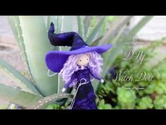 How to make a witch doll | Búp Bê Phù Thủy 2 | Huong Harmon - YouTube Waldorf Dolls, Fairy Dolls, Garden Sculpture, Witch, Miniatures, Christmas Ornaments, Halloween, Holiday Decor, Youtube