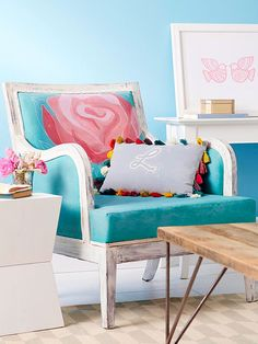 Get the patterns for the upholstered chair project and drapery project shown in Do It Yourself magazine's How to Paint Anything issue.