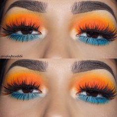 Gorgeous Makeup: Tips and Tricks With Eye Makeup and Eyeshadow – Makeup Design Ideas Makeup Eye Looks, Cute Makeup, Gorgeous Makeup, Skin Makeup, Eyeshadow Makeup, Beauty Makeup, Eyeshadows, Eyeshadow Blue Eyes, Orange Eyeshadow Looks
