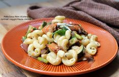 Grilled Veggie Pasta Salad – Fabulous Fare Sisters Veggie Pasta, Pasta Salad, Grilled Veggies, Italian Dressing, Fresh Lemon Juice, New Recipes, Asparagus, Side Dishes, Grilling