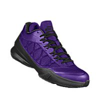 I designed the court purple Air Jordan CP3.VIII iD men's basketball shoe with black trim.