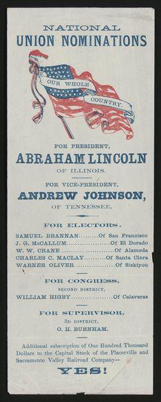 Ohio republican ticket and California Union ticket.