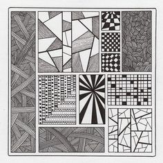 square zentangles | Zentangle Samplers - a gallery on Flickr
