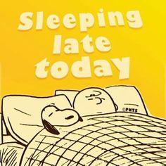 Sleeping late today