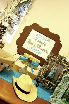 Table decor - western cowboy baby shower....LOVE IT!
