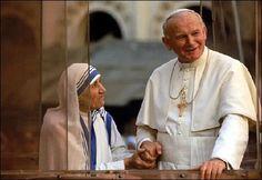 Blessed Mother Teresa and Pope John Paul II