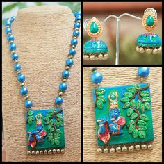 Terracotta jewellery - Krishna set