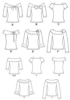 PLUS SIZE TOP Sewing Pattern Six Misses Knit Tops por patterns4you