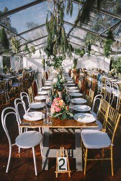 greenhouse wedding reception - photo by Lara Hotz http://ruffledblog.com/a-garden-greenhouse-wedding-in-australia