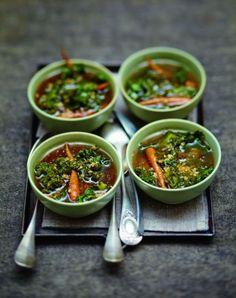 Soupe à l'orge et au kale  pour 6 personnes - Recettes Elle à Table