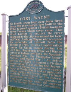 Fort Wayne explained. My mom was raised in Ft. Wayne and spent many trips visiting grandparents and uncle.