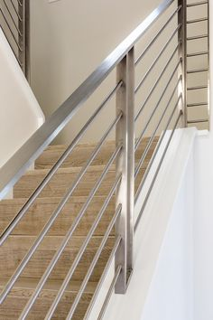 Beautiful Clean Lines In This Custom Stainless Steel Railing Wrought Iron Stair Wall