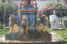 jardin Bari Mahal, fontaine aux lions, Udaipur