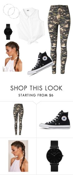 """Babysitting"" by teleaht on Polyvore featuring WithChic, Converse and CLUSE"