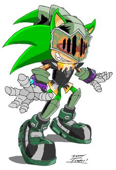 Scourge combined with Sonic and the Black Knight. It would be awesome if Scourge could be in a future Sonic game.