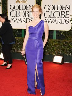 golden globes 2012 purple dress