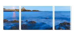 Photo imprimée sur toile triptyque grand format La Trinité sur mer