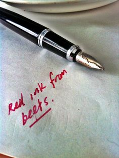 edible ink -- Home-made beet ink for a fountain pen by fortinbras, via Flickr