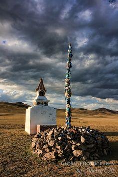 Mongolian Ovoo (sacred place)
