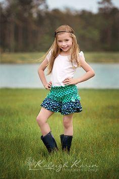 Raelyn's Triple Ruffle Bow Shorts PDF Pattern by CreateKidsCouture, size 6mo - 8