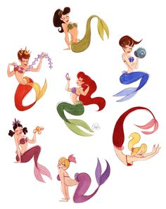 Most popular tags for this image include: ariel, disney, mermaid, the little mermaid and sisters Ariel Disney, Disney Pixar, Disney Dream, Disney Animation, Walt Disney, Disney Amor, Disney E Dreamworks, Disney Love, Disney Magic