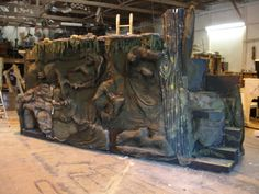 Scenic Design by Holgersson for Artistic Painting Staging Set Creation